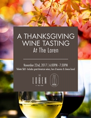 A Thanksgiving Wine Tasting at The Loren