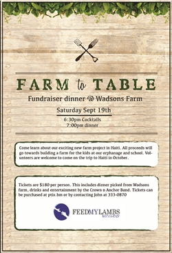 Farm to Table: Fundraiser Dinner
