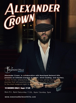 Alexander Crown - An Evening of Magic, Mind Reading & Mystery