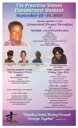 AME Women in Ministry Ecumenical Breakfast & WORD Award Celebration