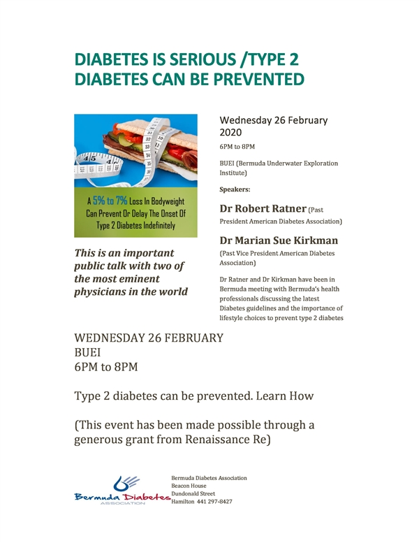 Diabetes is Serious /Type 2 Diabetes Can Be Prevented