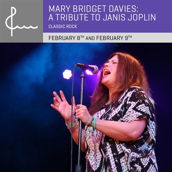 Mary Bridget Davies: A Tribute To Janis Joplin