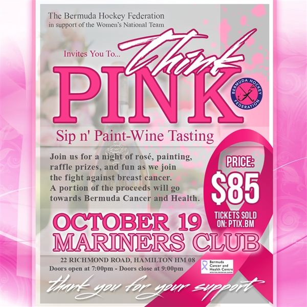 Think Pink Sip n' Paint Wine Tasting