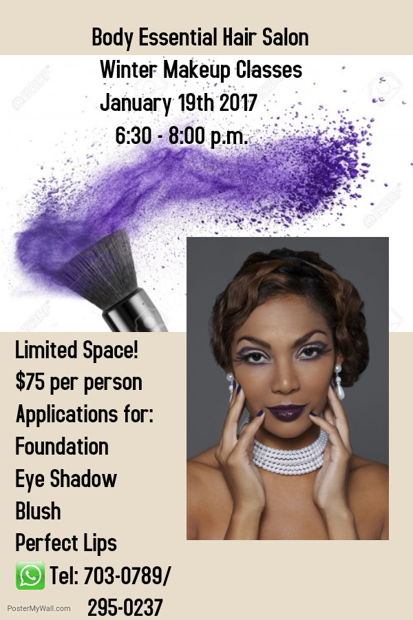 Body Essential Hair Salon Winter Makeup Classes