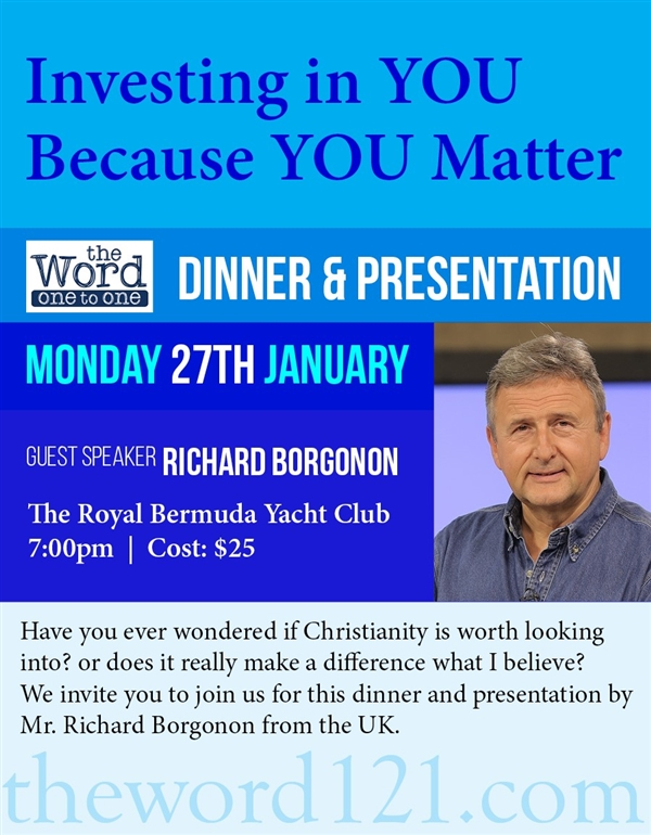 Investing In YOU Because YOU Matter – Dinner Presentation