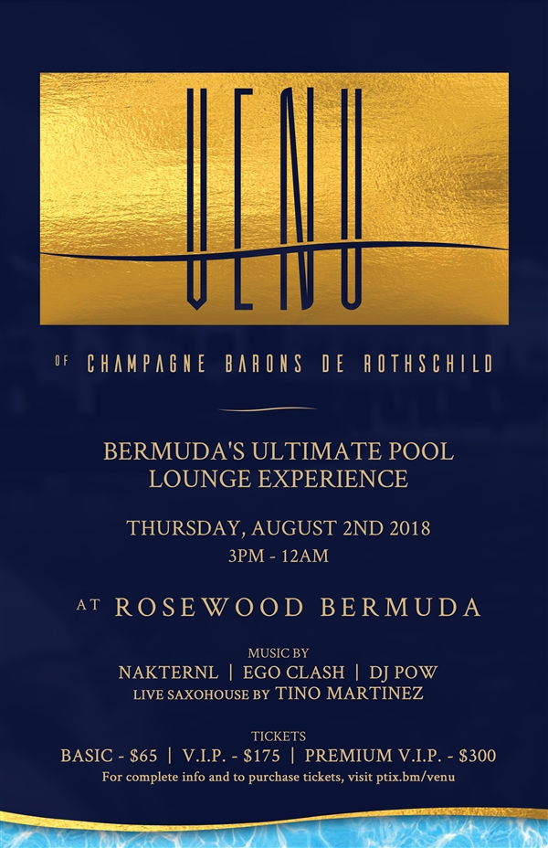 VENU of Champagne Barons de RothsChild: Bermuda's Ultimate Pool Lounge Experience