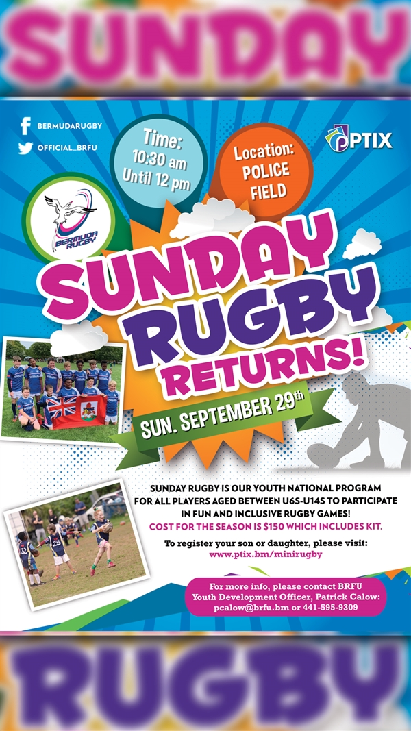 Bermuda Rugby Football Union (BRFU) Sunday Rugby - Mini Rugby 2019/2020