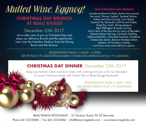 Christmas Brunch at Beau Rivage Restaurant