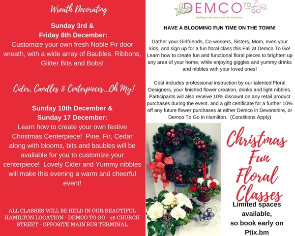 Christmas Fun Floral Classes